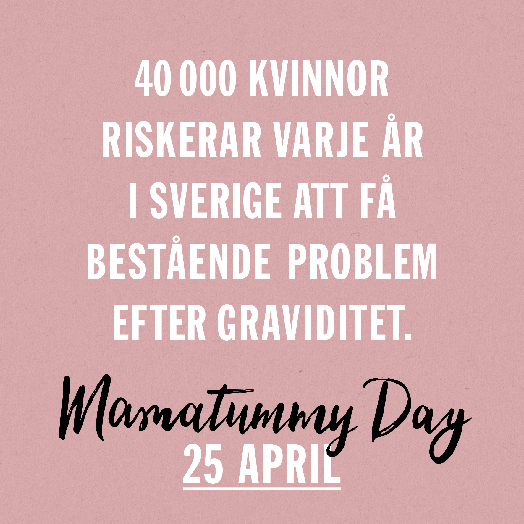 Full fart mot Mamatummy Day