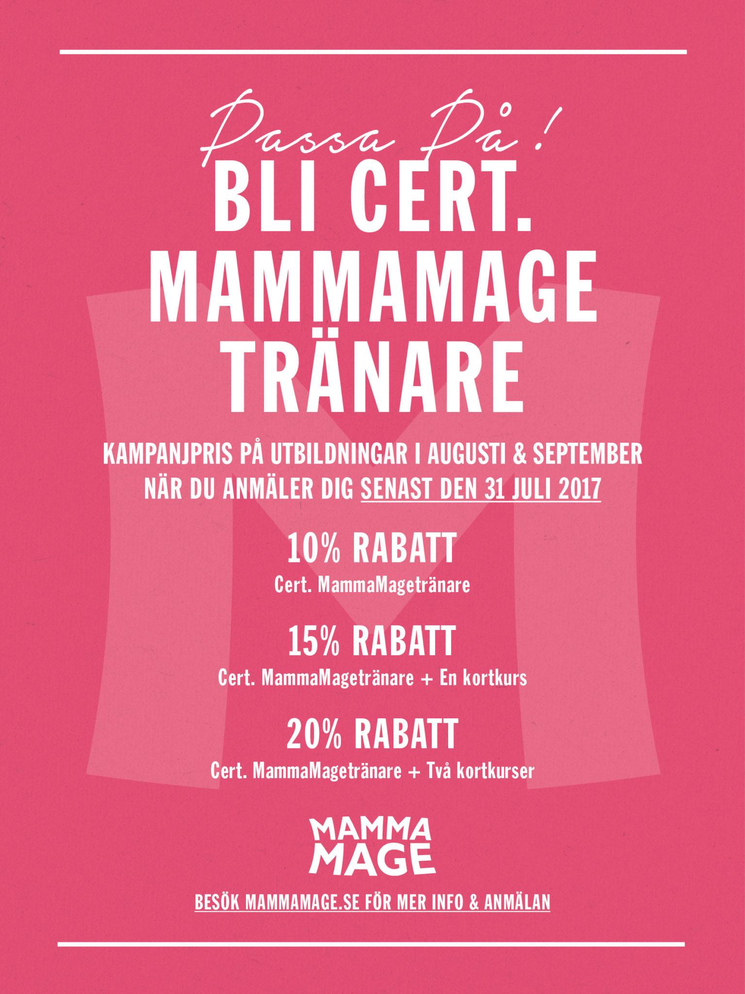 Kampanjpris på MammaMages utbildningar